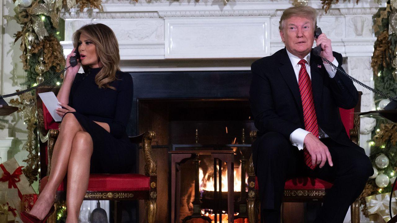 Carril de tren de Arcelor, en Veriña.Trump le preguntó a un niño de siete años: «¿Todavía crees en Santa?