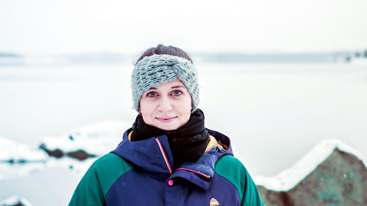 Silvia Giménez, en Finlandia, donde da clase