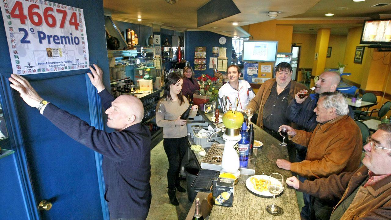 Este bar ya repartió un segundo premio de la lotería de Navidad en el año 2013