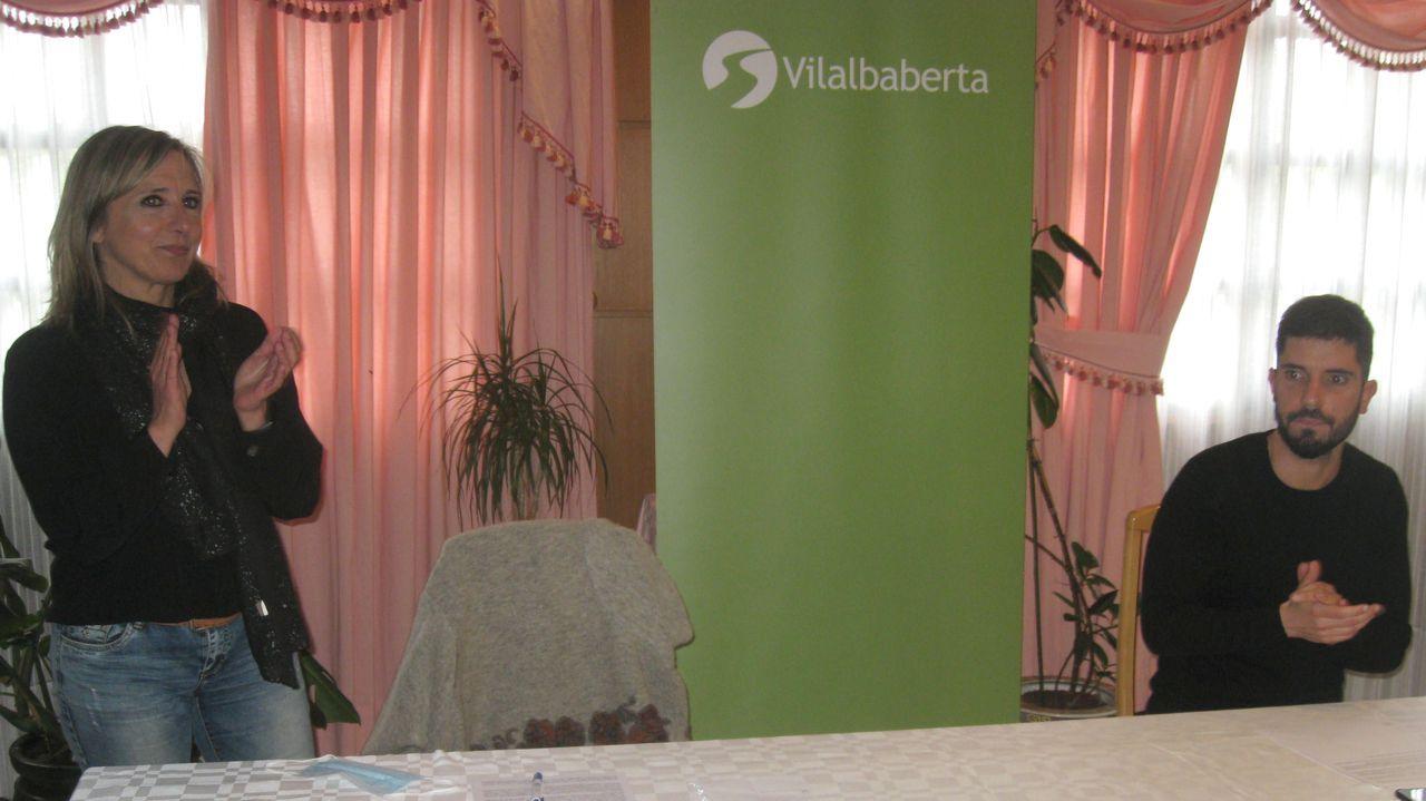 Comparecencia de Antón Gómez Reino.Imagen del debate electoral de las autonómicas del 2016. Luís Villares, Leiceaga, Feijoo, Ana Pontón y Cristina Losada