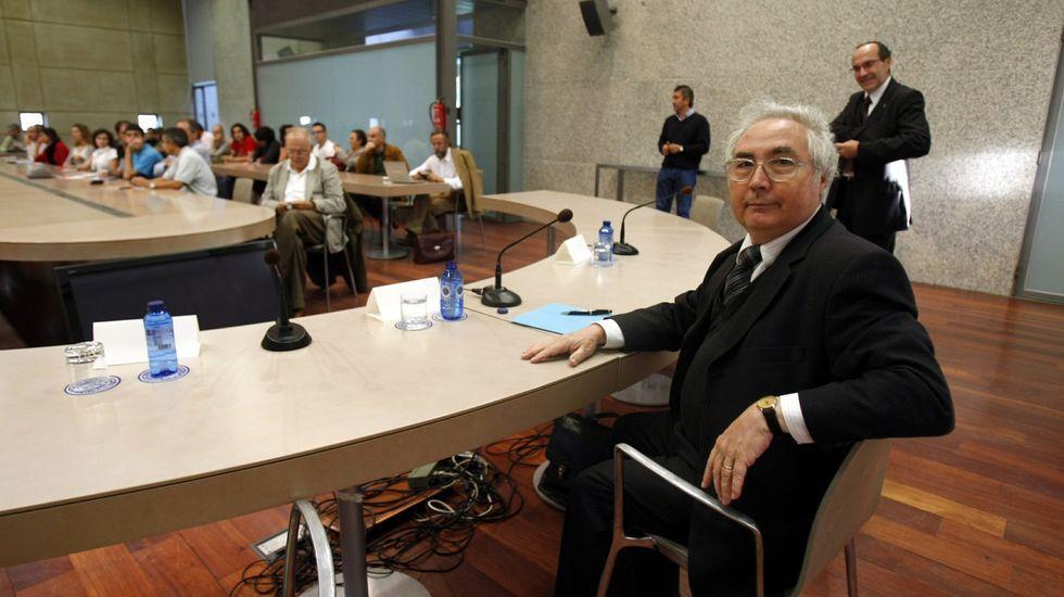 Manuel Castells, futuro ministro de Universidades, cuando estuvo en Galicia para dar una conferencia sobre