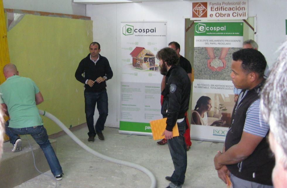 Una de las jornadas en el Porta da Auga para presentar nuevos materiales y técnicas de construcción.