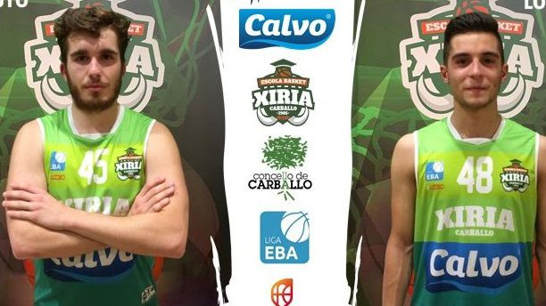 Javi y Samu, de la Escola Basket Xiria.