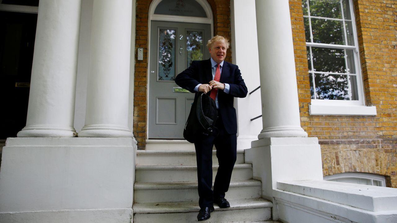 Boris Johnson, durante el encuentro celebrado por el Partido Conservador en Birmingham