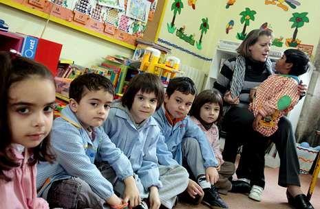 La escuela unitaria San Lorenzo, en Agrón, ha perdido alumnado de forma progresiva.