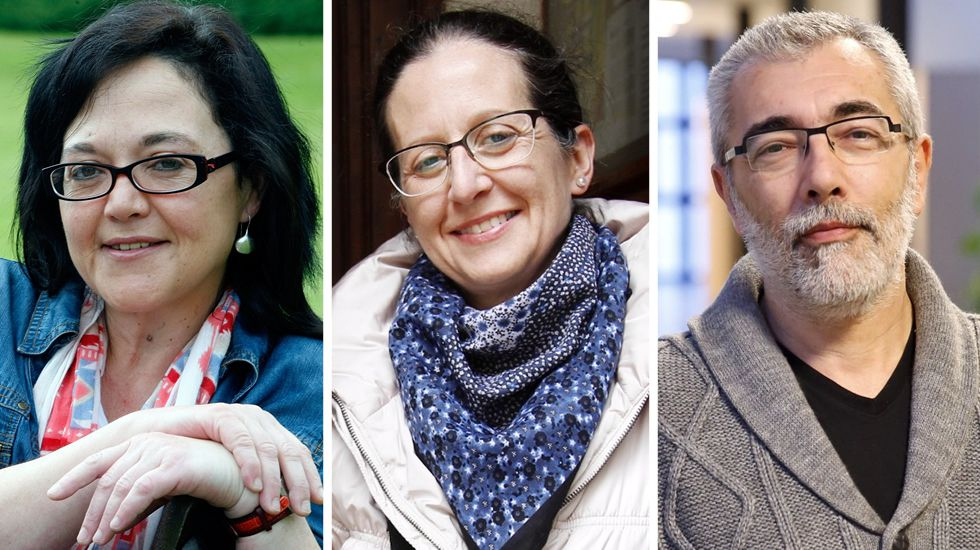 Helena Gómez Vecino de Confapa Galicia (1), María José Mansilla (2), y Fernando Lacaci de Confederación de Anpas galegas (3)