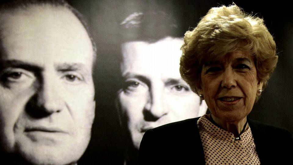 Pinto.Preston durante la presentación en el 2003 en Madrid de su libro Juan Carlos, El rey del pueblo.