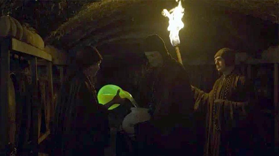 El característico color verde del fuego valyrio