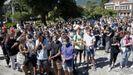 Numerosos amigos, allegados y vecinos sonenses y noieses se congregaron en la alameda de Noia para brindar un bello homenaje a los dos jóvenes desaparecidos, Miguel Quan y Javier Hurtado