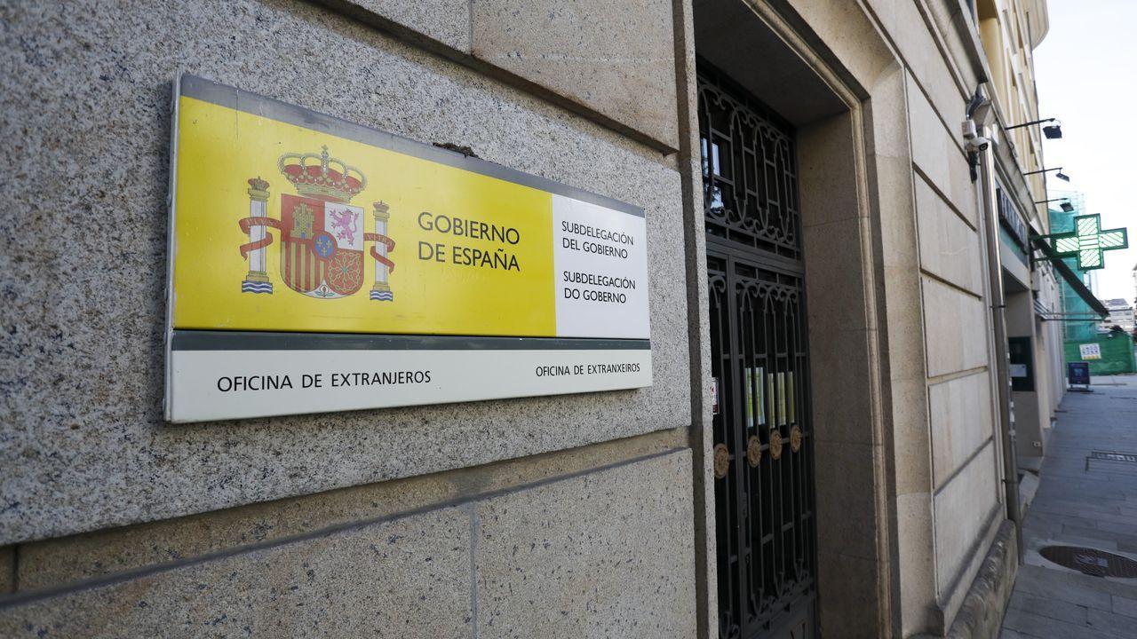La oficina de Extranjería, en la Subdelegación de Gobierno de Lugo