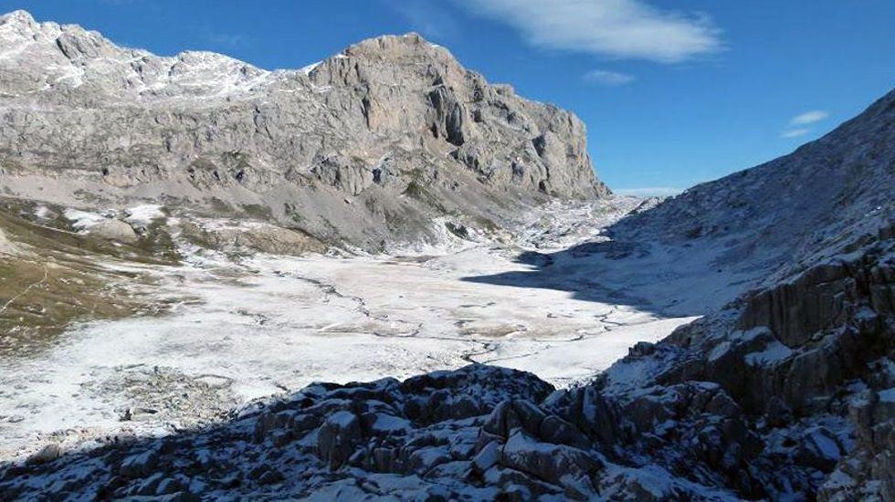 Vega de Liordes donde se registró la temperatura más baja de España.Vega de Liordes donde se registró la temperatura más baja de España