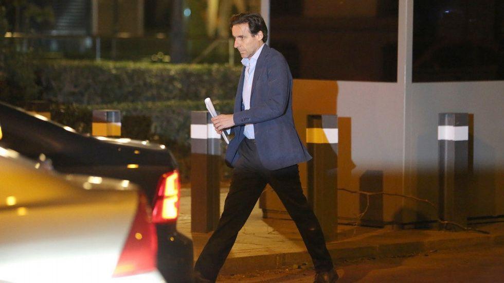 CIFUENTESH.Javier López Madrid, a su salida de la Audiencia Nacional tras pagar una fianza de 100.000 euros.