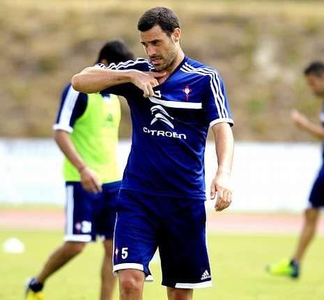 Andrés Túñez llegó se sumó la semana pasada al entrenamiento con el Celta.