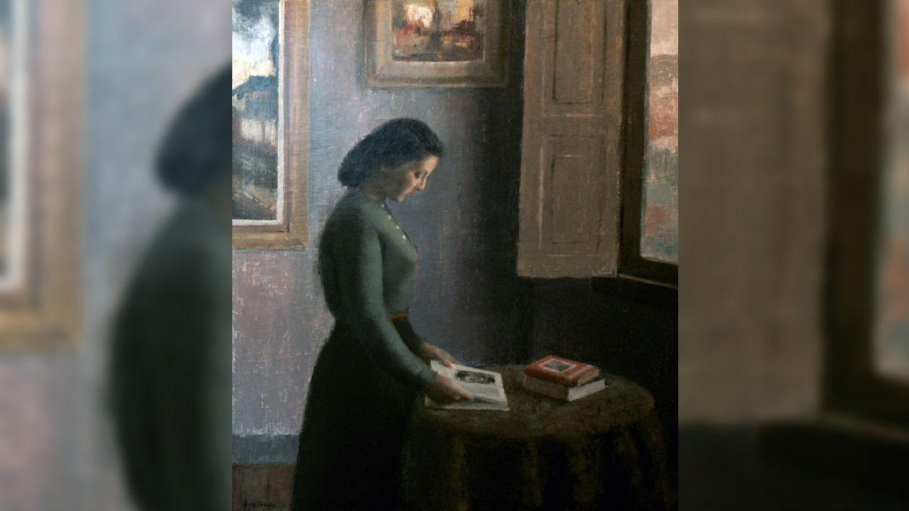 Retrato de mujer, que toma como modelo la esposa del autor, Luis Torras