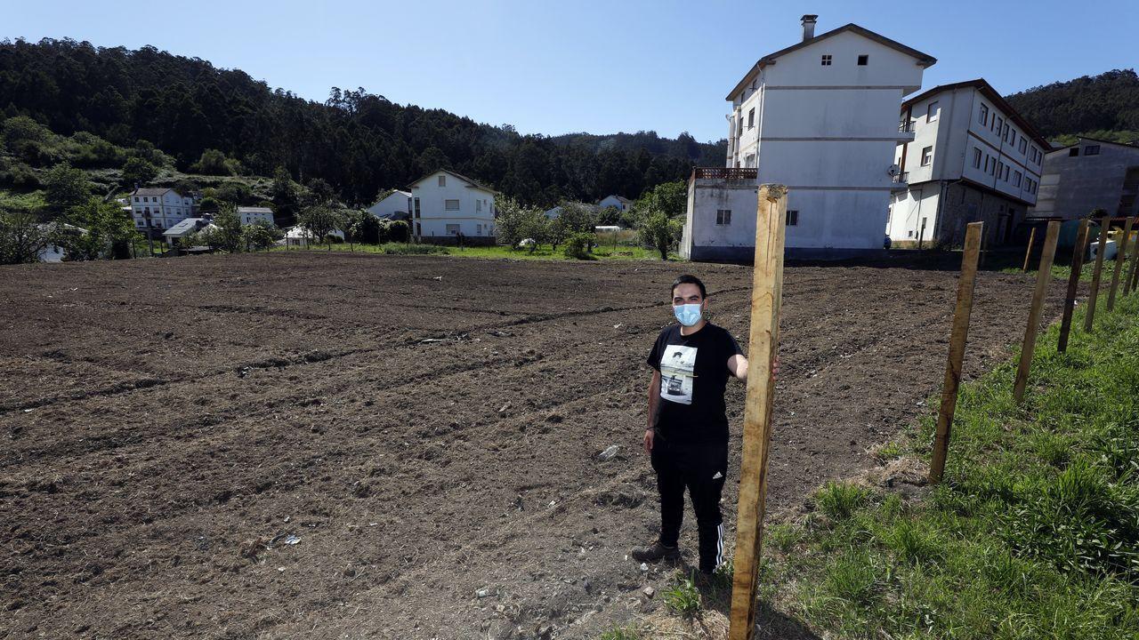 Los particulares pueden arrendar por metros para cultivar huertos urbanos la finca de la imagen superior, situada en Covas