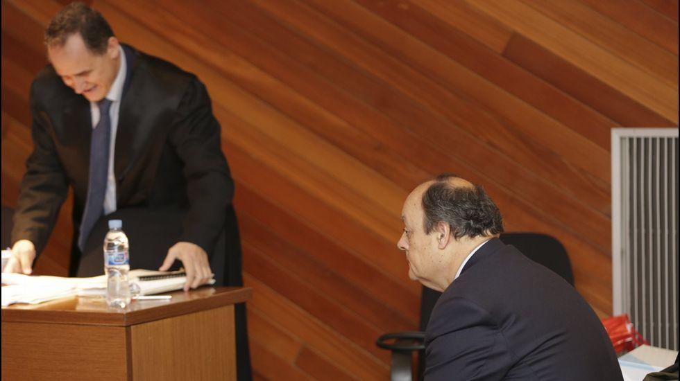 Castellano, a su llegada a los juzgados