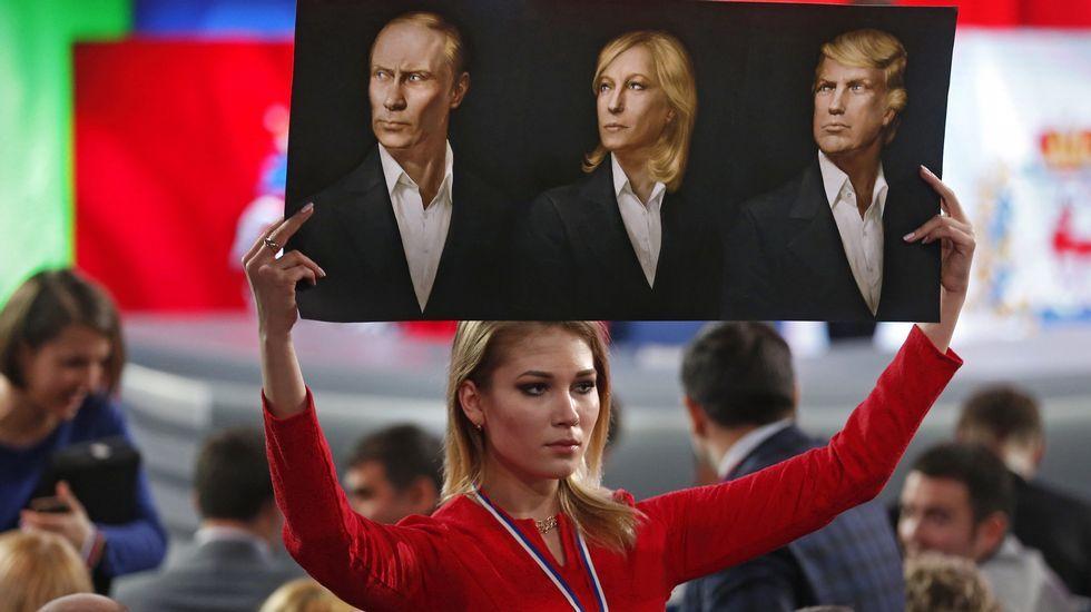 Sigue en directo laprimera rueda de prensa de Trump en seis meses.Peskov