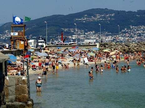 Moaña tuvo galardón en la playa del propio muelle del municipio.