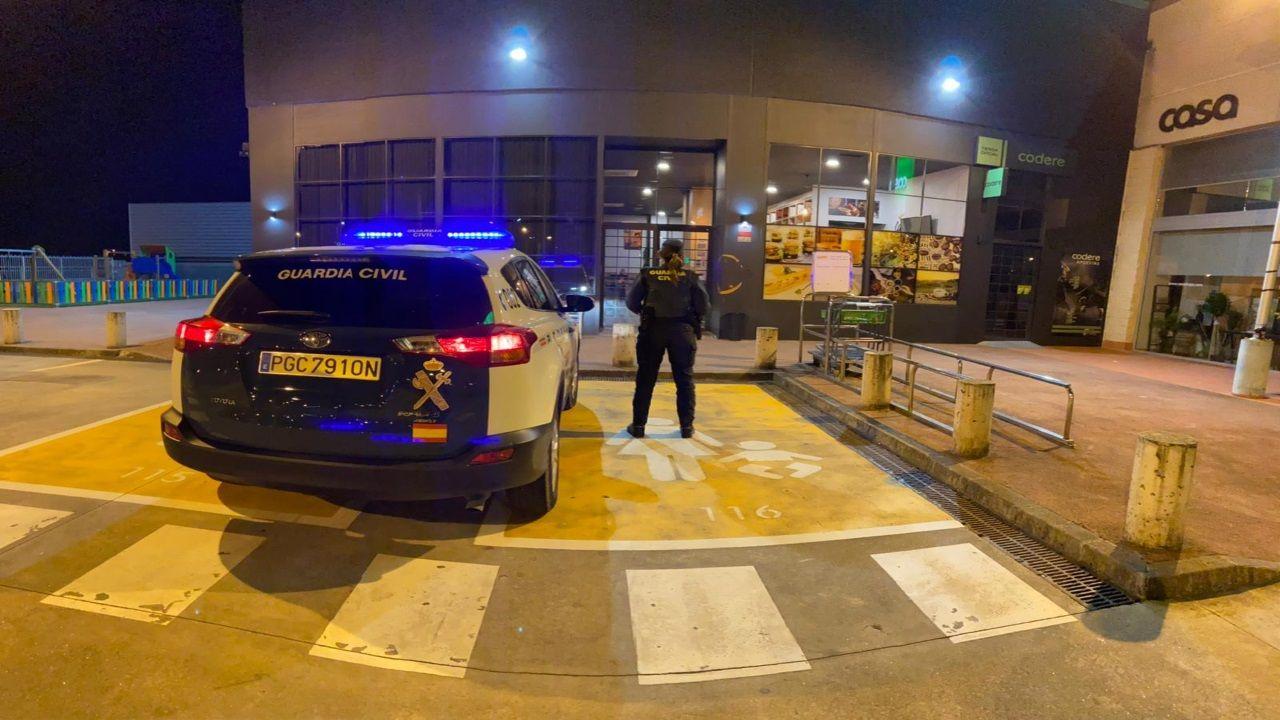 Vigilancia de la Guardia Civil en A Coruña