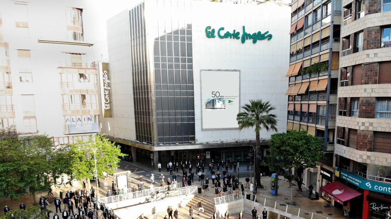 Edificio de los juzgados de Lugo, en la Plaza de Avilés