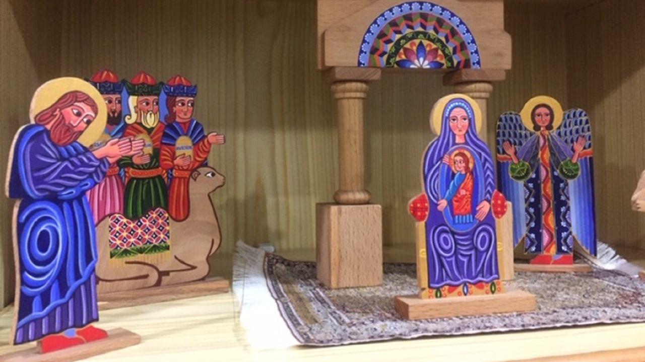 En la capital de Armenia,  Ereván, adquirió Antía López este colorido nacimiento