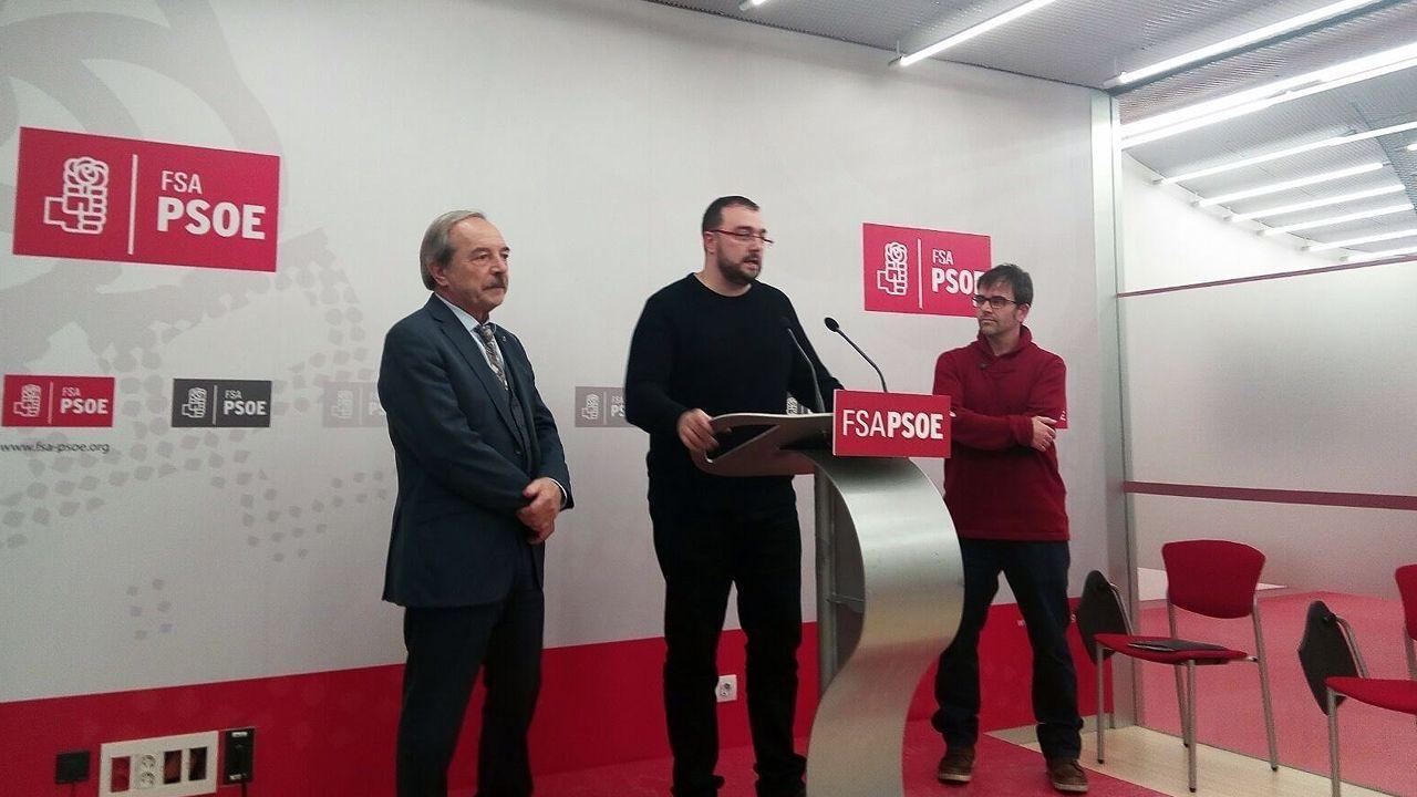 Wenceslao López, Adrián Barbón e Iván Piñuela
