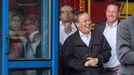 Laschet, el pasado jueves, bromeando mientras el presidente de la Repúblico se dirigía a los vecinos en uno de los puntos de Alemania azotados por las riadas