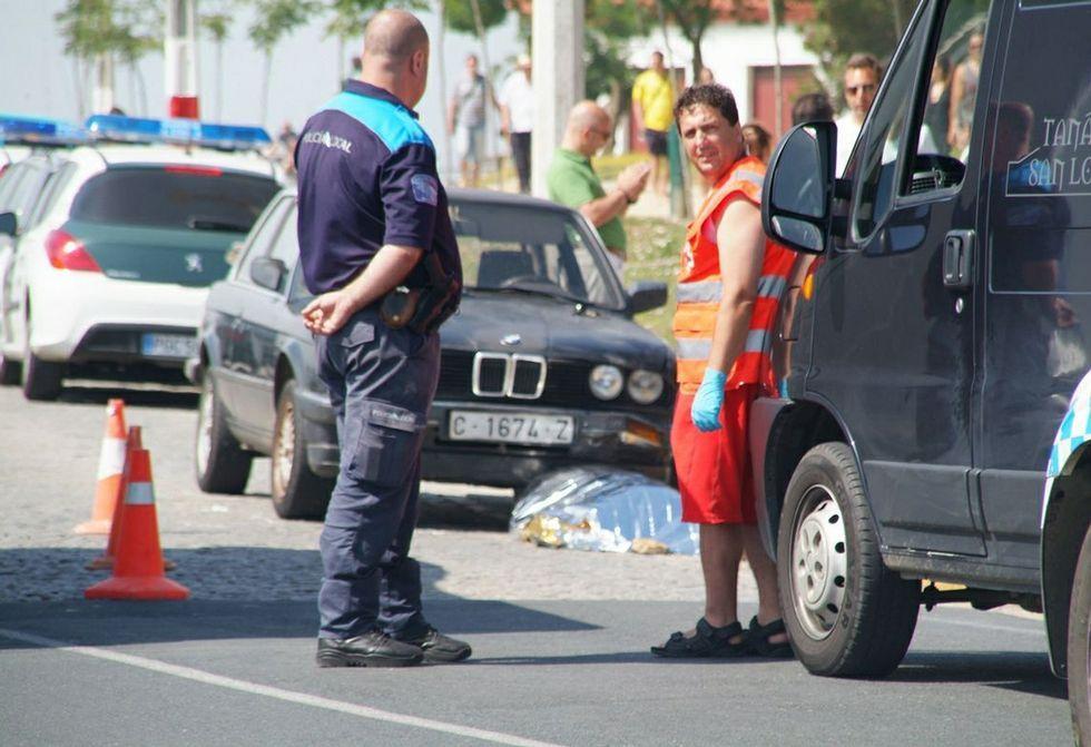Foto de archivo del accidente ocurrido el día 10 de agosto de 2012 en la calle Mariñeiro.