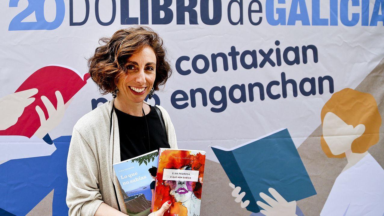 Elba Pedrosa, na inauguración da Feira do Libro de Vigo