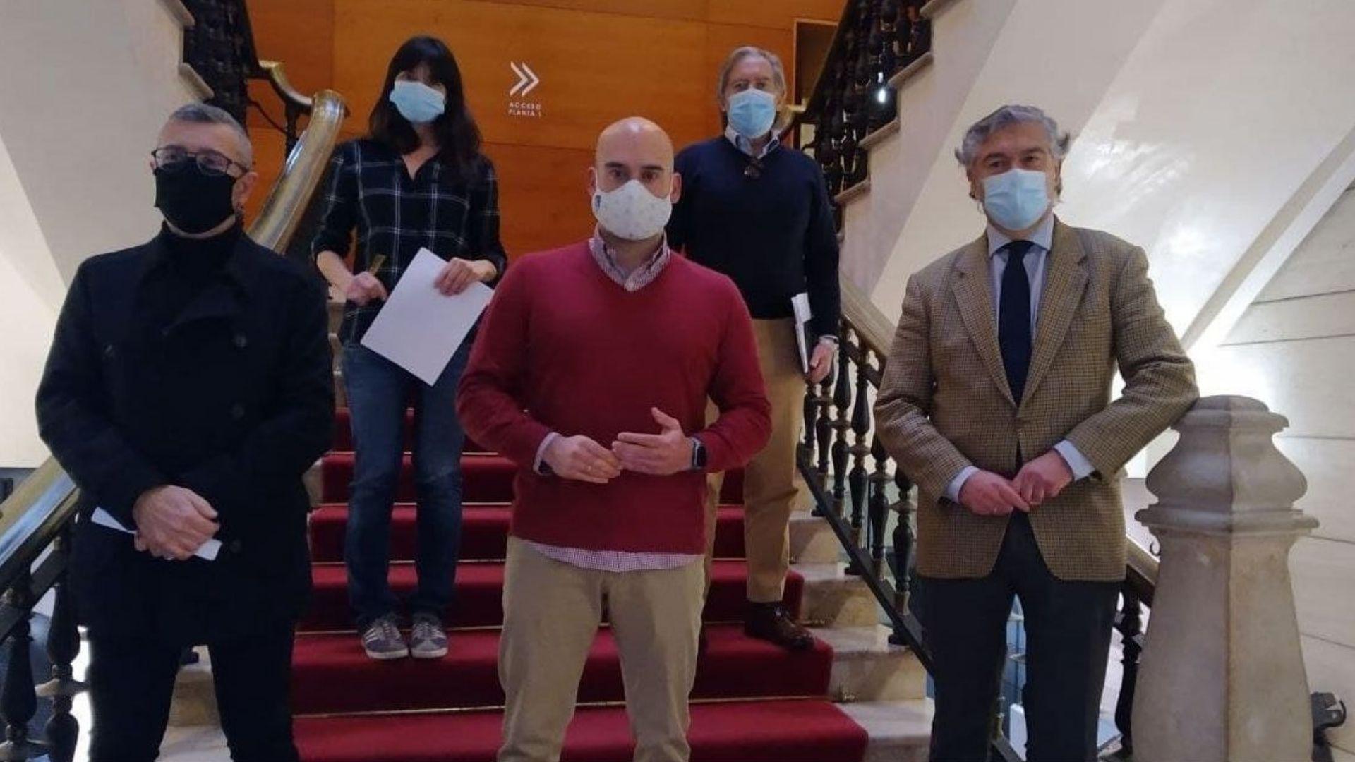 Portavoces de la oposición en el Ayuntamiento de Gijón