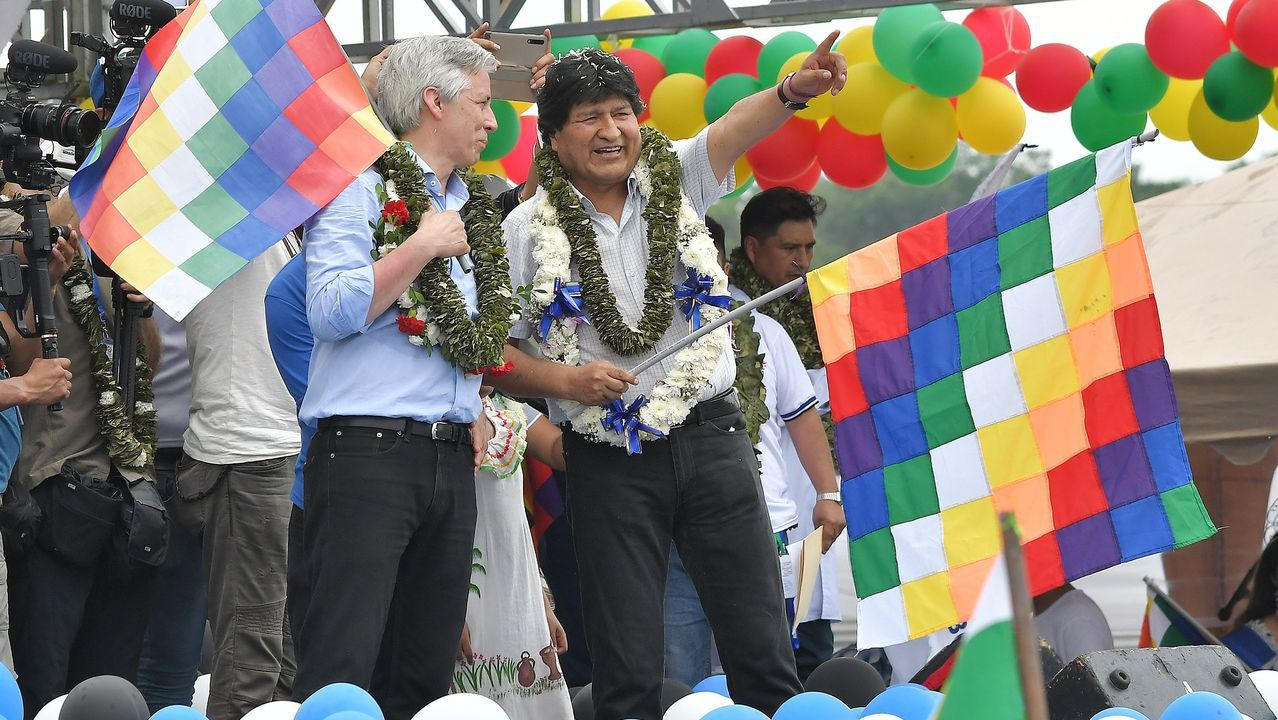 Evo Morales se dio un baño de masas a su regreso a Bolivia desde Argentina
