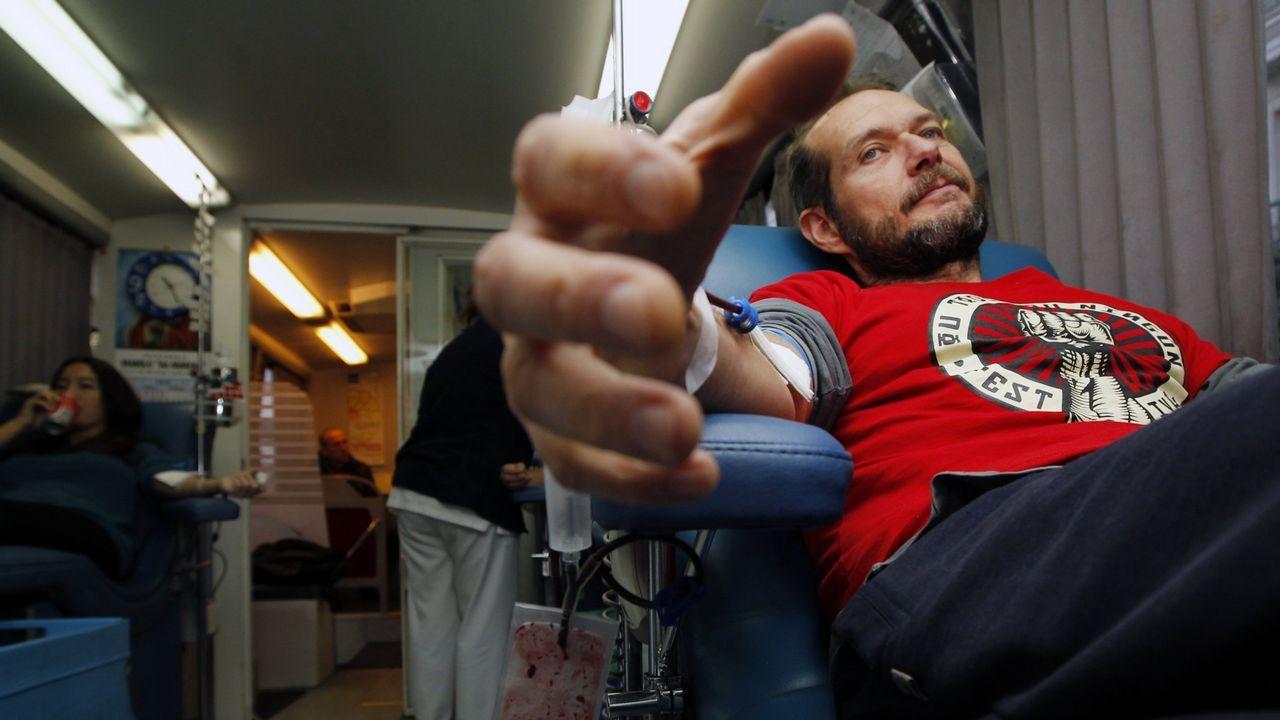 «Esa sangre fue una inyección de vida».José Luis Pascual, presidente nacional de Acaip, donando sangre