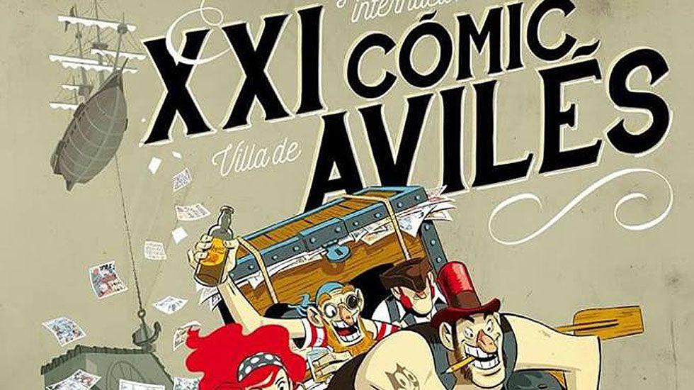 Cartel de las jornadas del cómic de Avilés.Cartel de las jornadas del cómic de Avilés