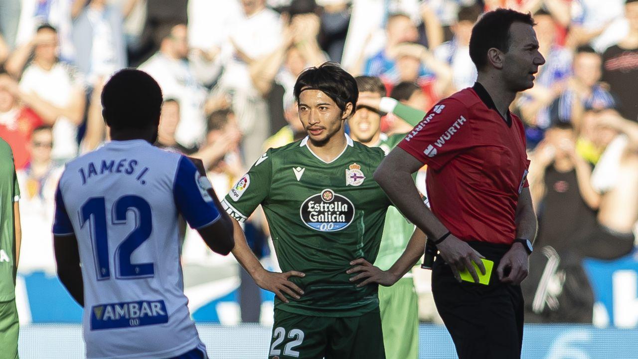 Juan Rodriguez, durante el partido contra el Bergantiños