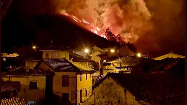 Incendio en el concejo de Llanes