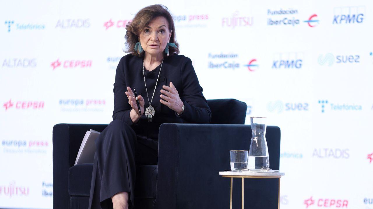 Concentraciones contra la Ronda Norte.La vicepresidenta primera del Gobierno, Carmen Calvo.
