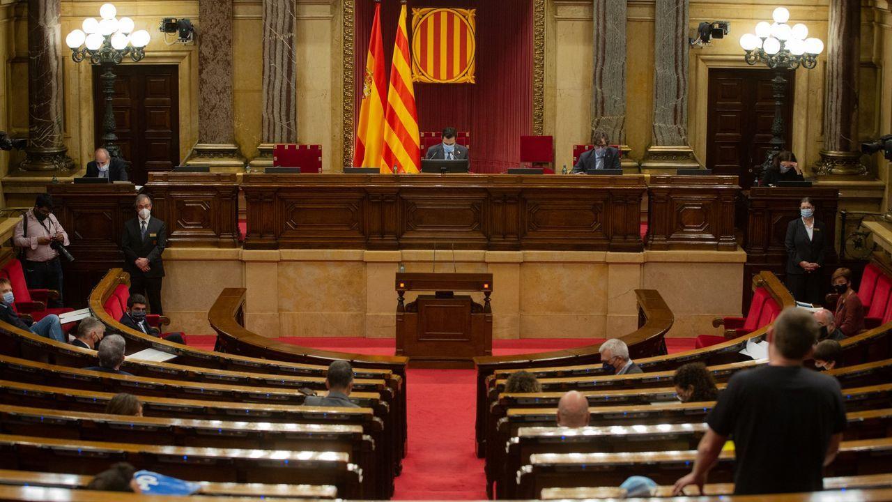 El Parlamento catalán, durante una sesión plenaria el pasado octubre