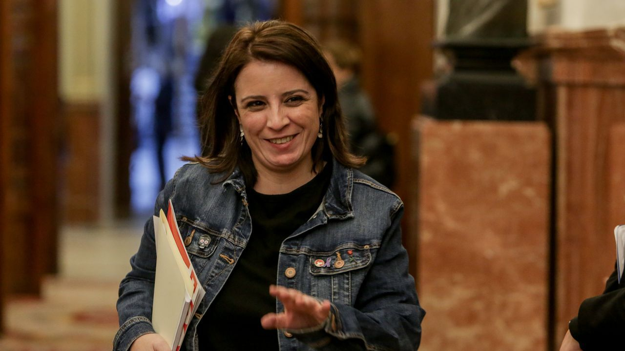 Comparecencia de Pedro Sánchez en el Congreso.Adriana Lastra