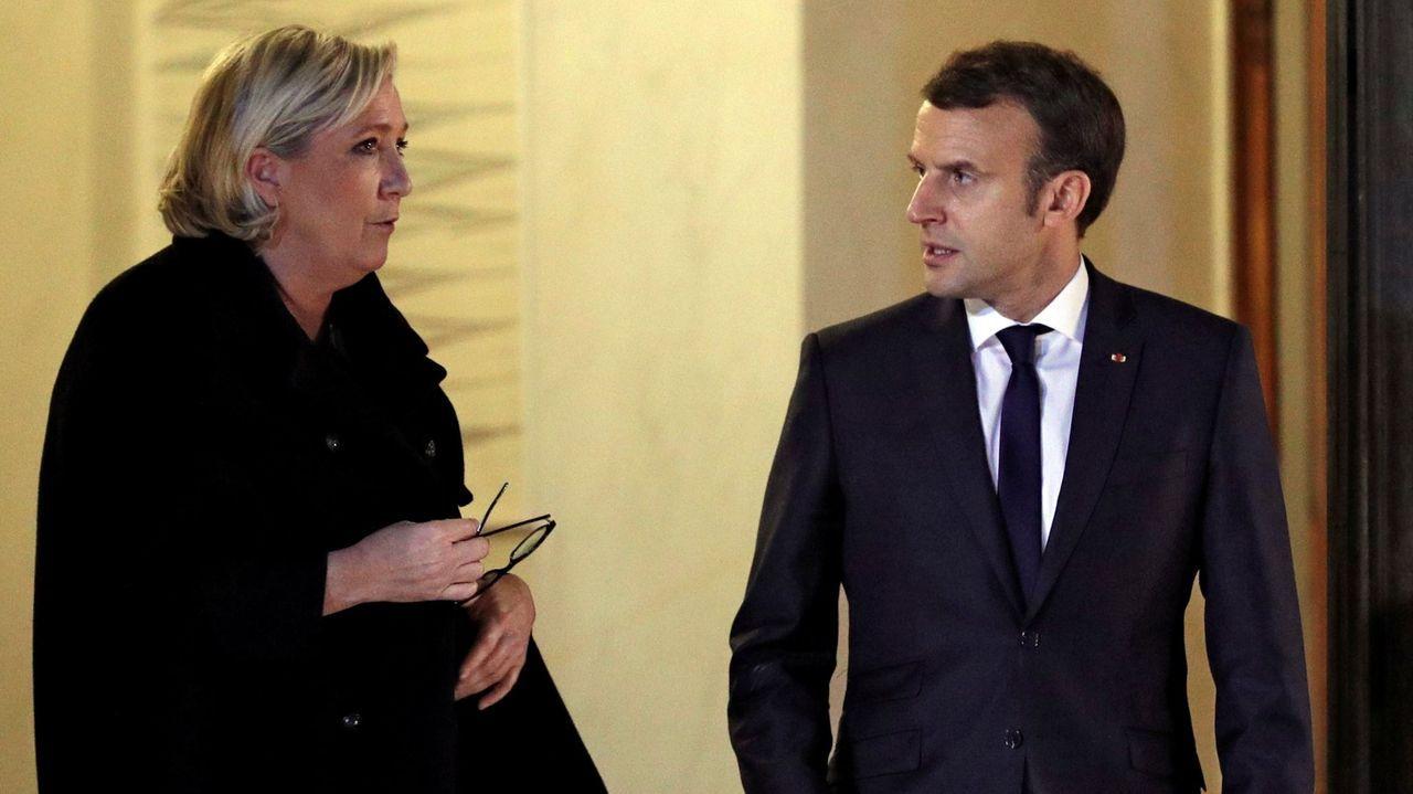 Macron citó a Marine Le Pen en el Elíseo en noviembre del 2017 tras asumir como presidente.