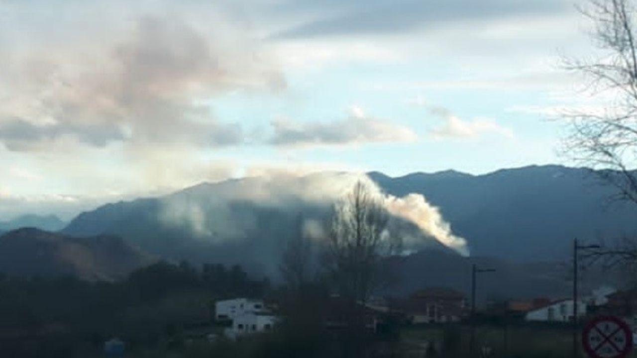 Incendio en Monsacro