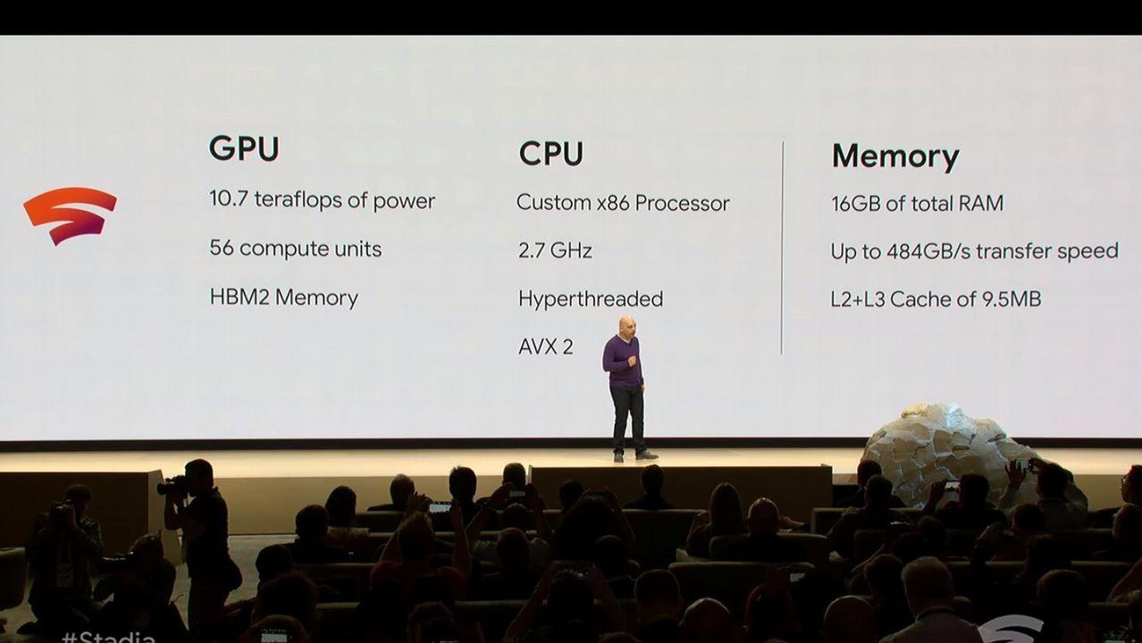 Algunos de los datos técnicos de los servidores mostrados por Google durante la presentación.
