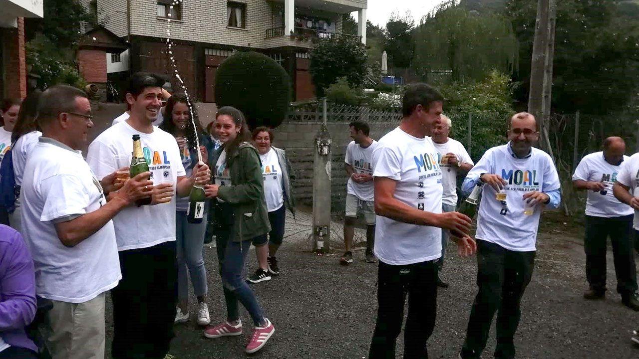 Moal festeja su designación como Pueblo Ejemplar de Asturias 2018.Natalio Grueso