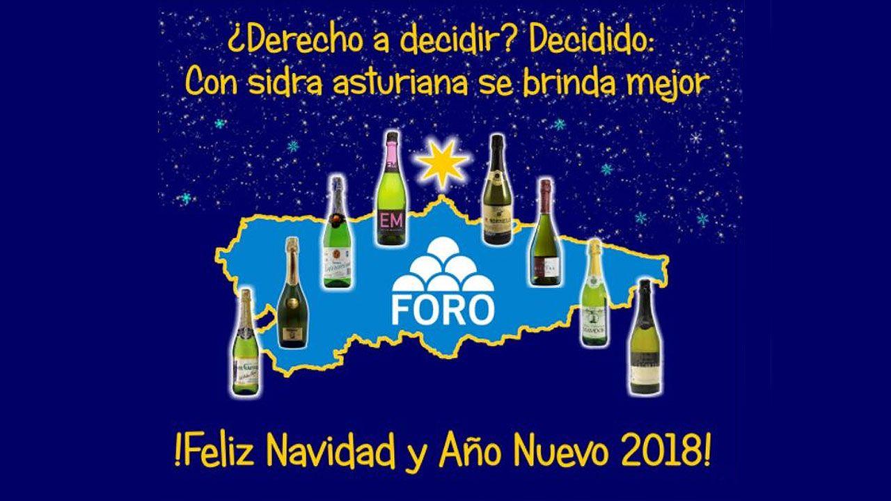 Felicitación navideña de Foro Asturias