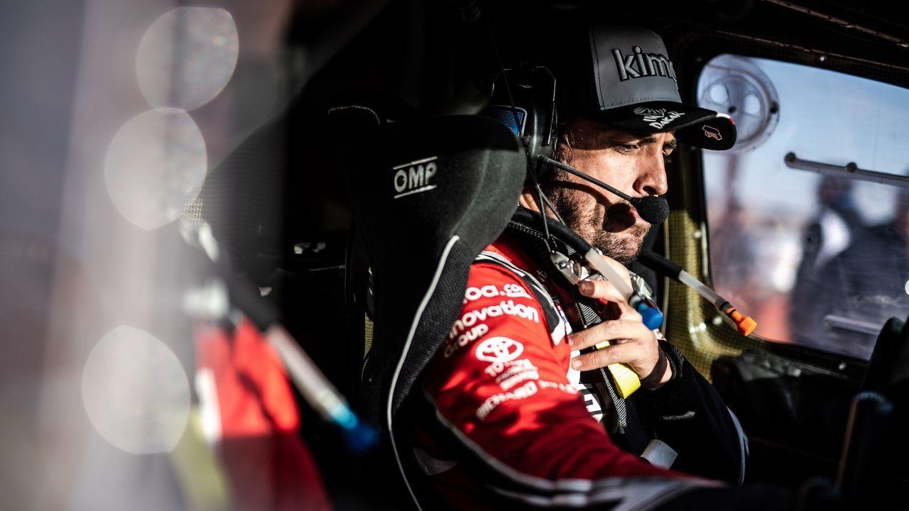 Fernando Alonso, tras la segunda etapa del Dakar