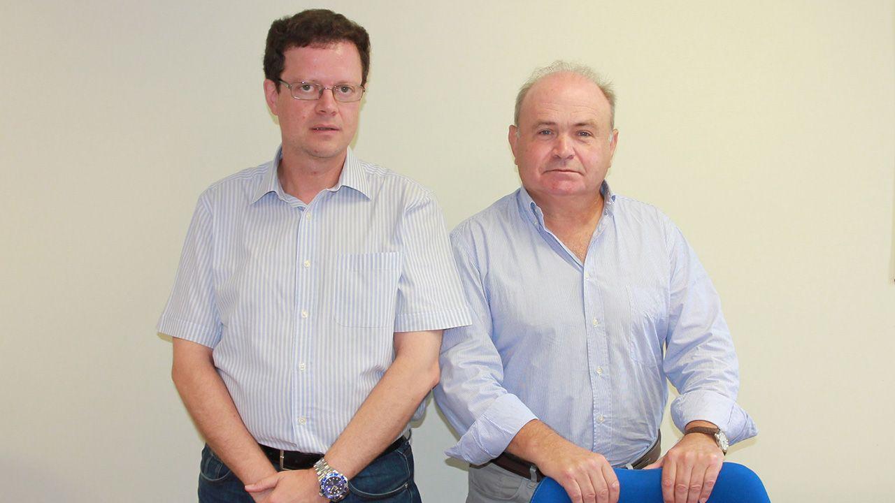 El Grupo Eleuterio Quintanilla celebra sus 25 años de trayectoria.Fernando Sánchez Lasheras y Manuel José Fernández Gutiérrez, investigadores de la Universidad de Oviedo