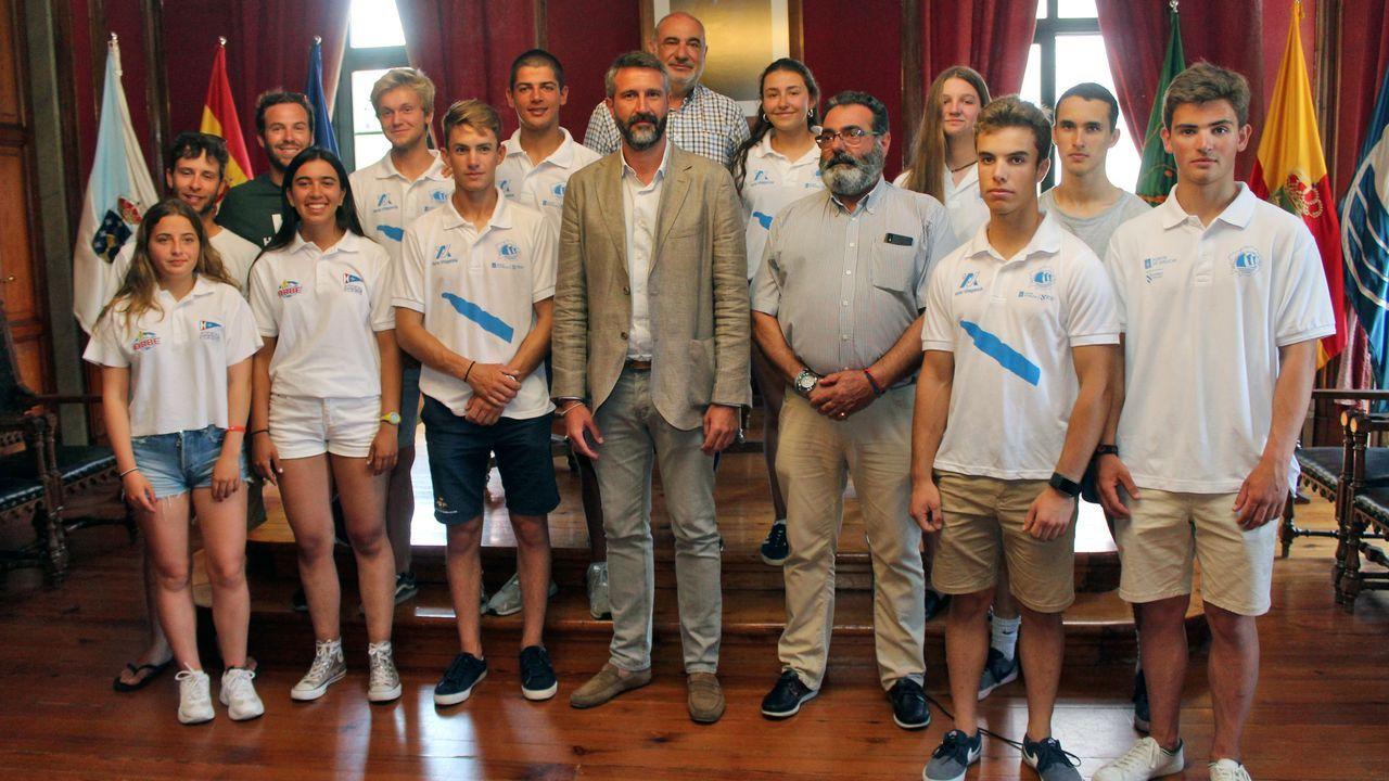 Jornada preparatoria del Europeo de Júnior.Felipe VI, ayer en una audiencia en Zarzuela