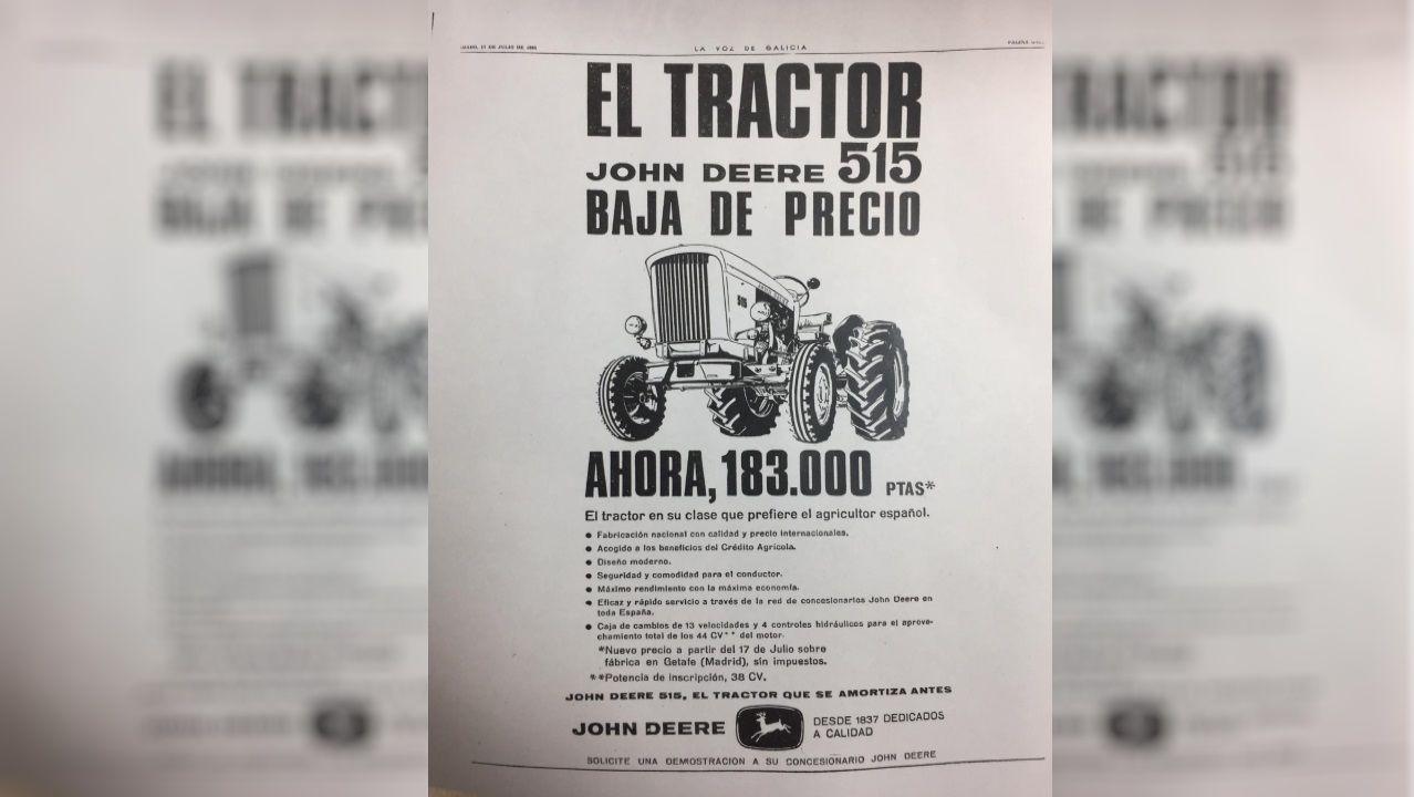 Anuncio publicado en la prensa española en 1965