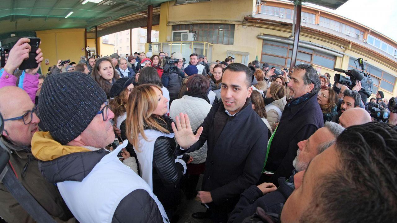   REUTERS.Di Maio expresó su apoyo a los chalecos amarillos a pocos meses de la elecciones europeas