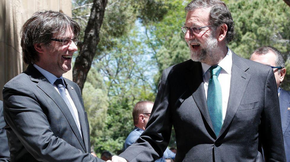 Rajoy y Puigdemont coincidieron este viernes en Barcelona
