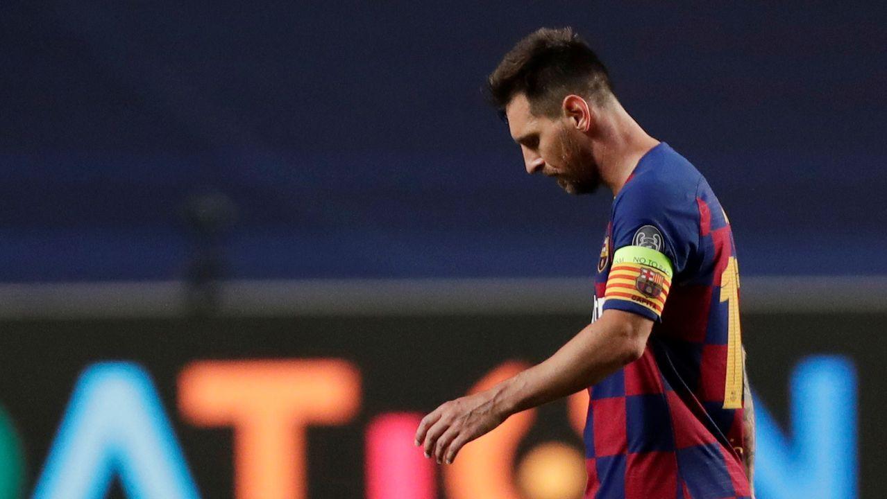 El padre de Leo Messi a su llegada a Barcelona